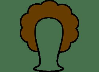 Bruine Krullen Pruiken