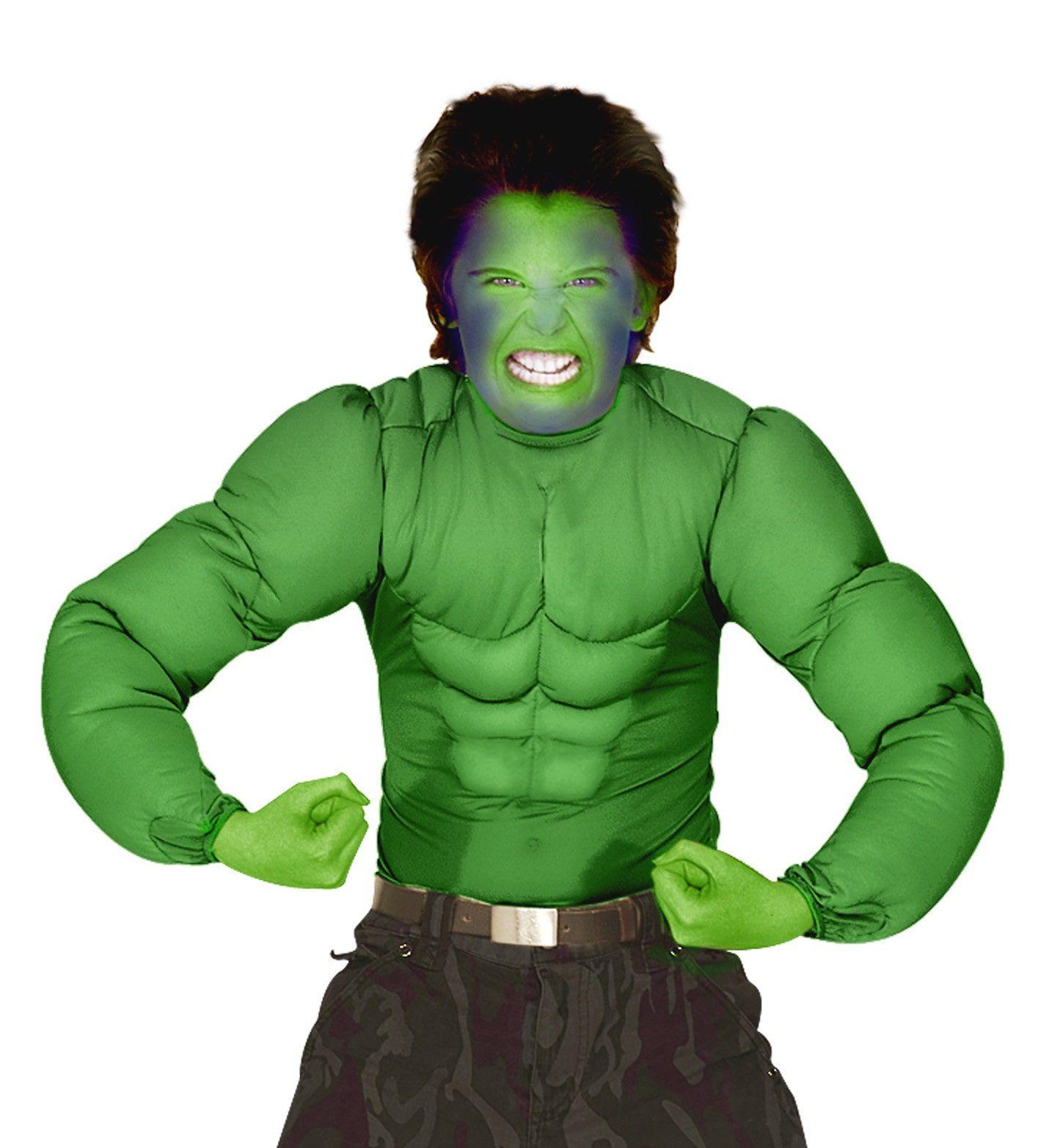 Machtig Spierenshirt Groen Kind Jongen