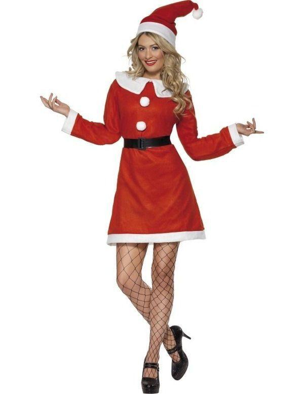 Classic Miss Kerstman Vrouw Kostuum