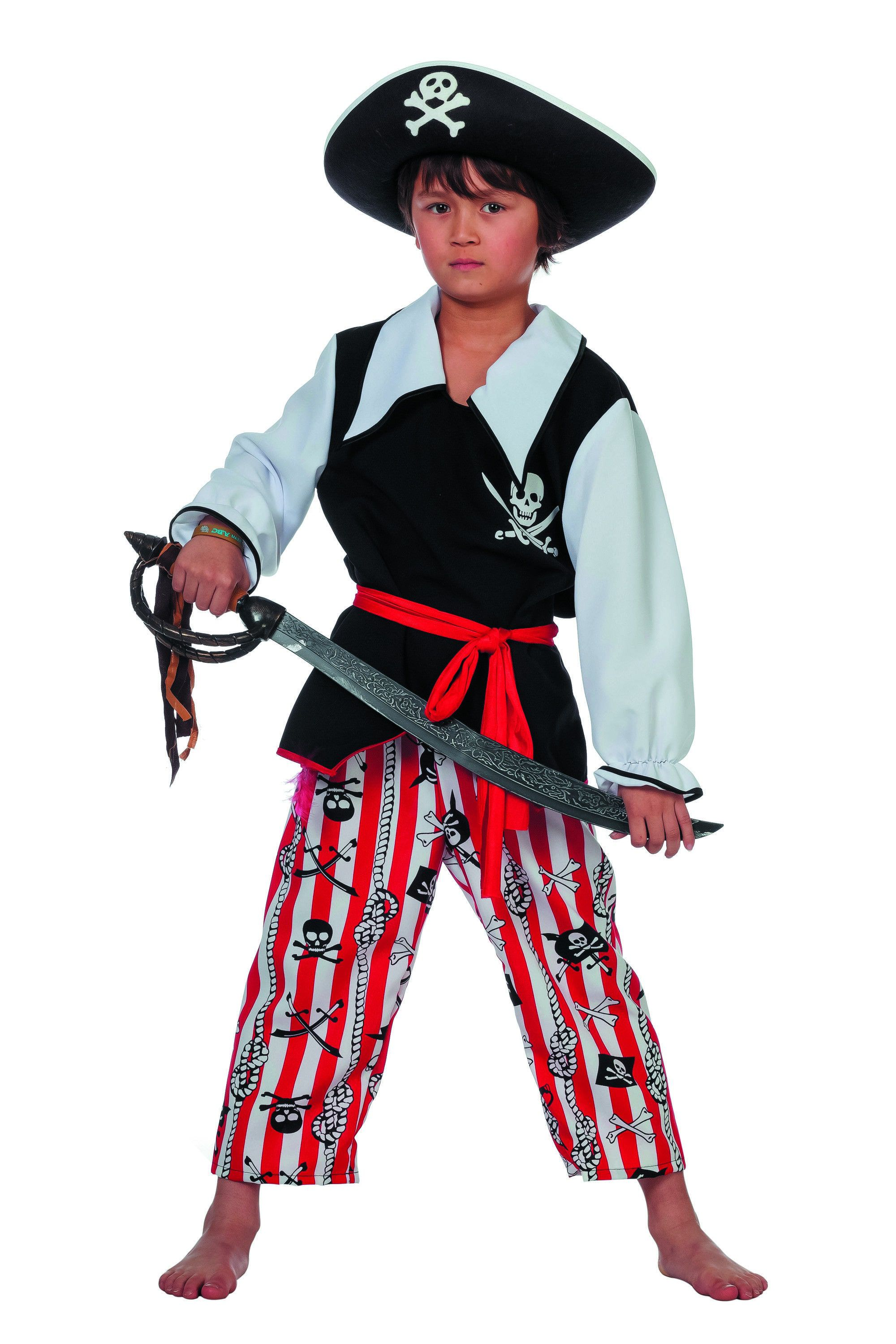 Hoofd Piraat Schateiland Jongen Kostuum