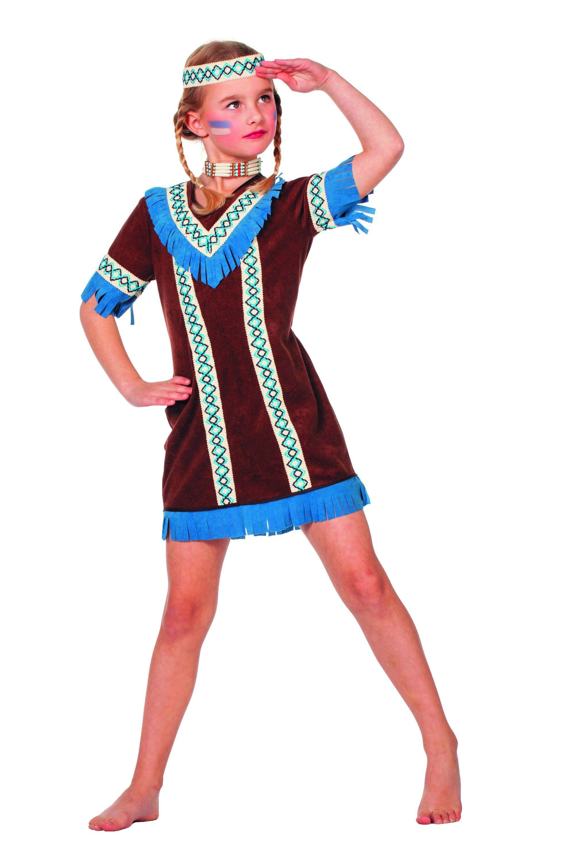 Blauwe Kraai Indiaanse Tenderfoot (Meisje) Kostuum