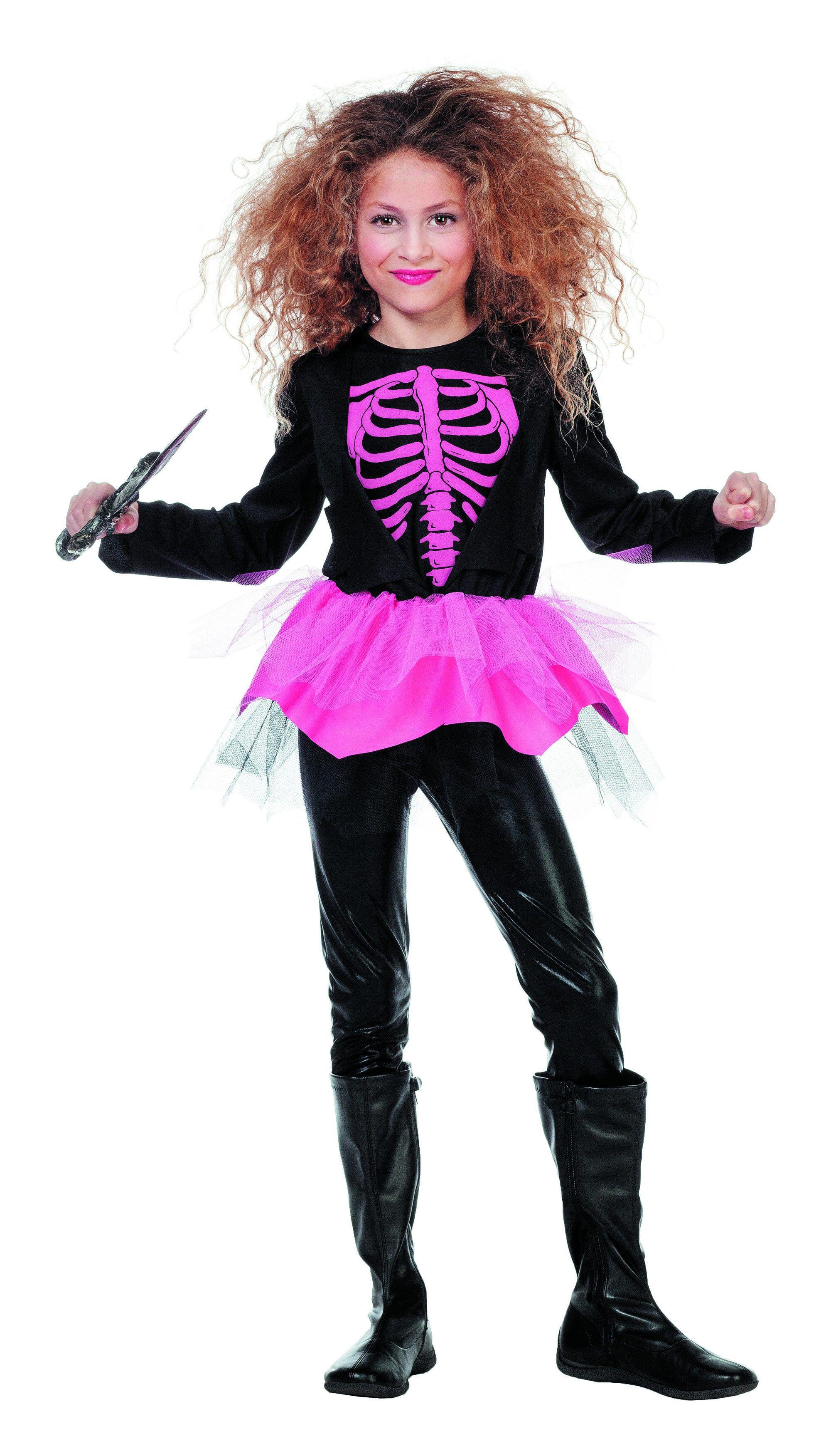 Neon Roze Skelet Meisje