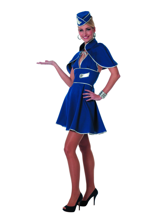 Jaren 80 Stewardess Vrouw Kostuum