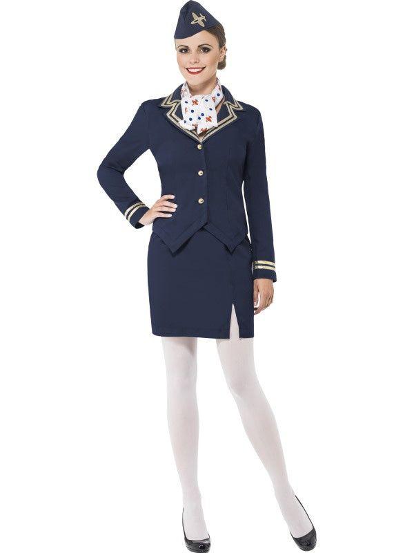 Stacey Stewardess Vrouw Kostuum