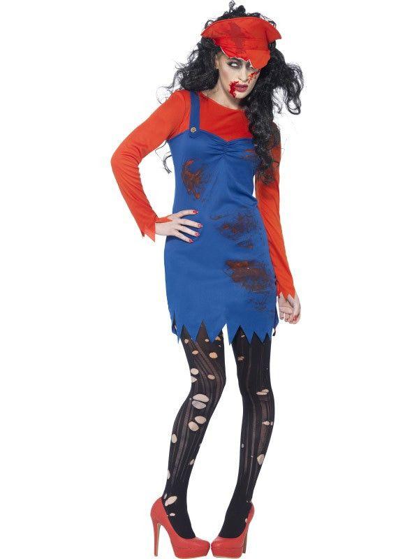 Zombie Mario Dame Vrouw Kostuum