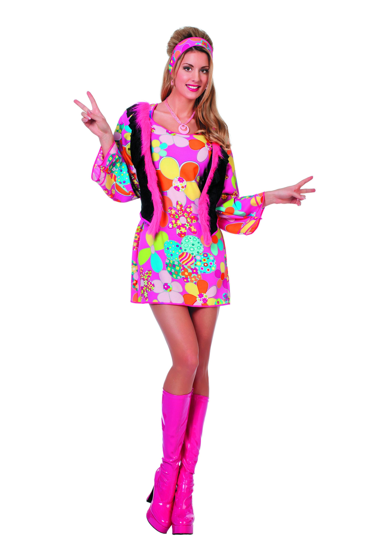 Hippy Woodstock Solar Child Vrouw Kostuum