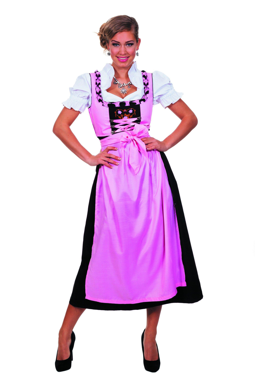 Sweat Dirndl Roze Lang Vrouw Kostuum