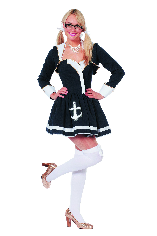 Navy Sailor Lady Ay Ay Captain Vrouw Kostuum