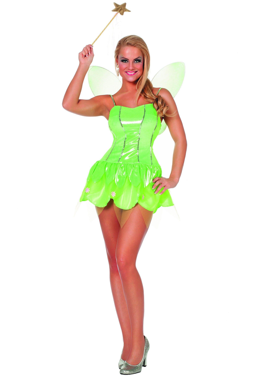 Toverachtig Kort Groen Feetje Vrouw Kostuum