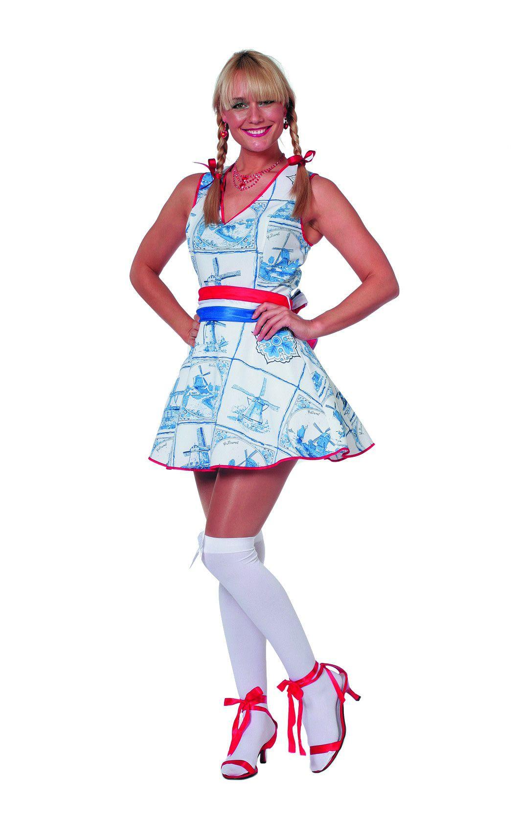 Delftsblauw Holland Jurk Vrouw