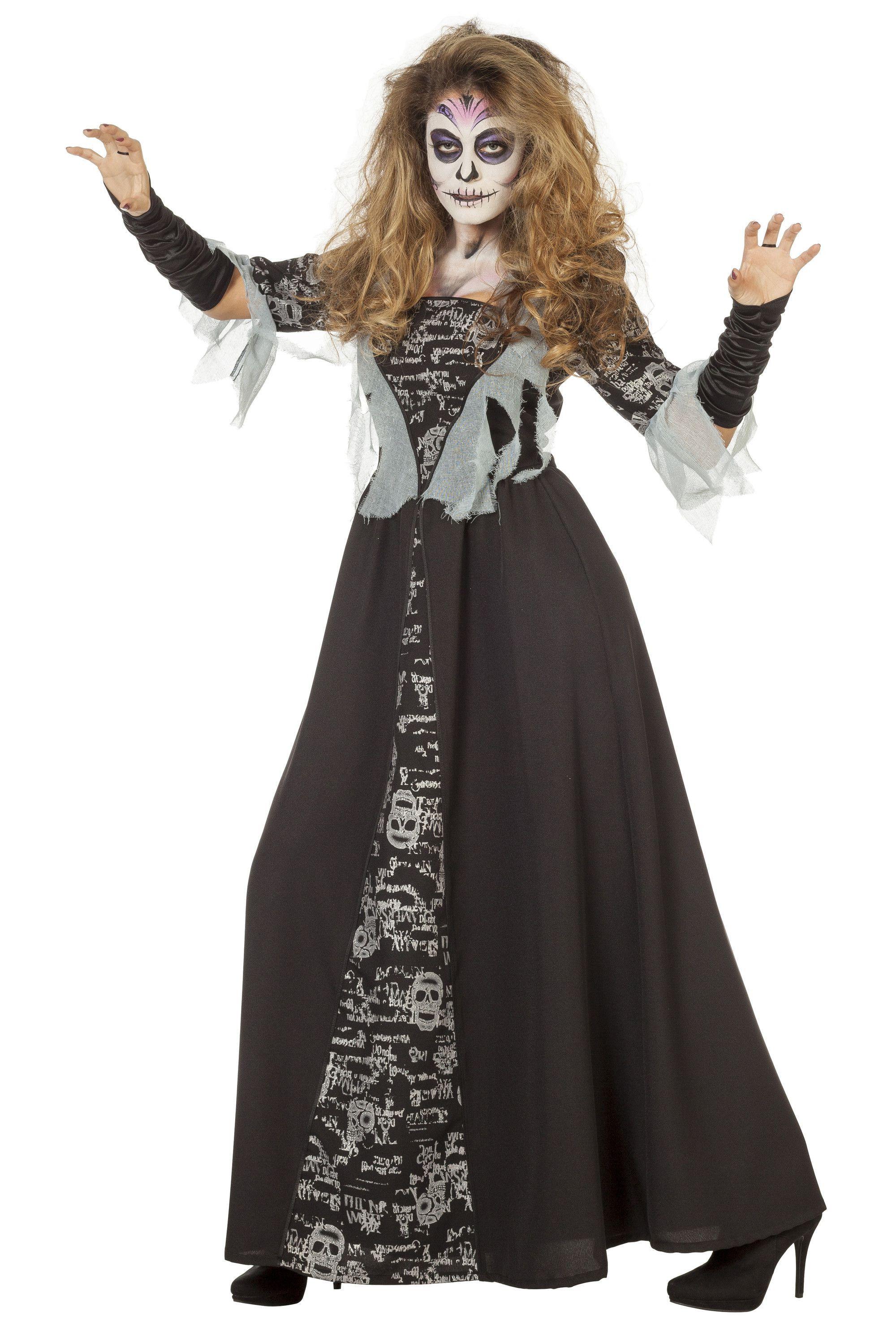Lange Zombie Marquesa Vrouw Kostuum