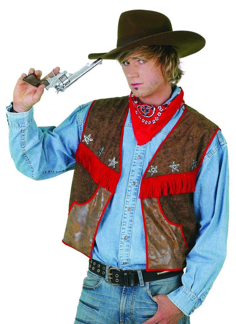 El Gringo Cowboyvest Wasleder Man