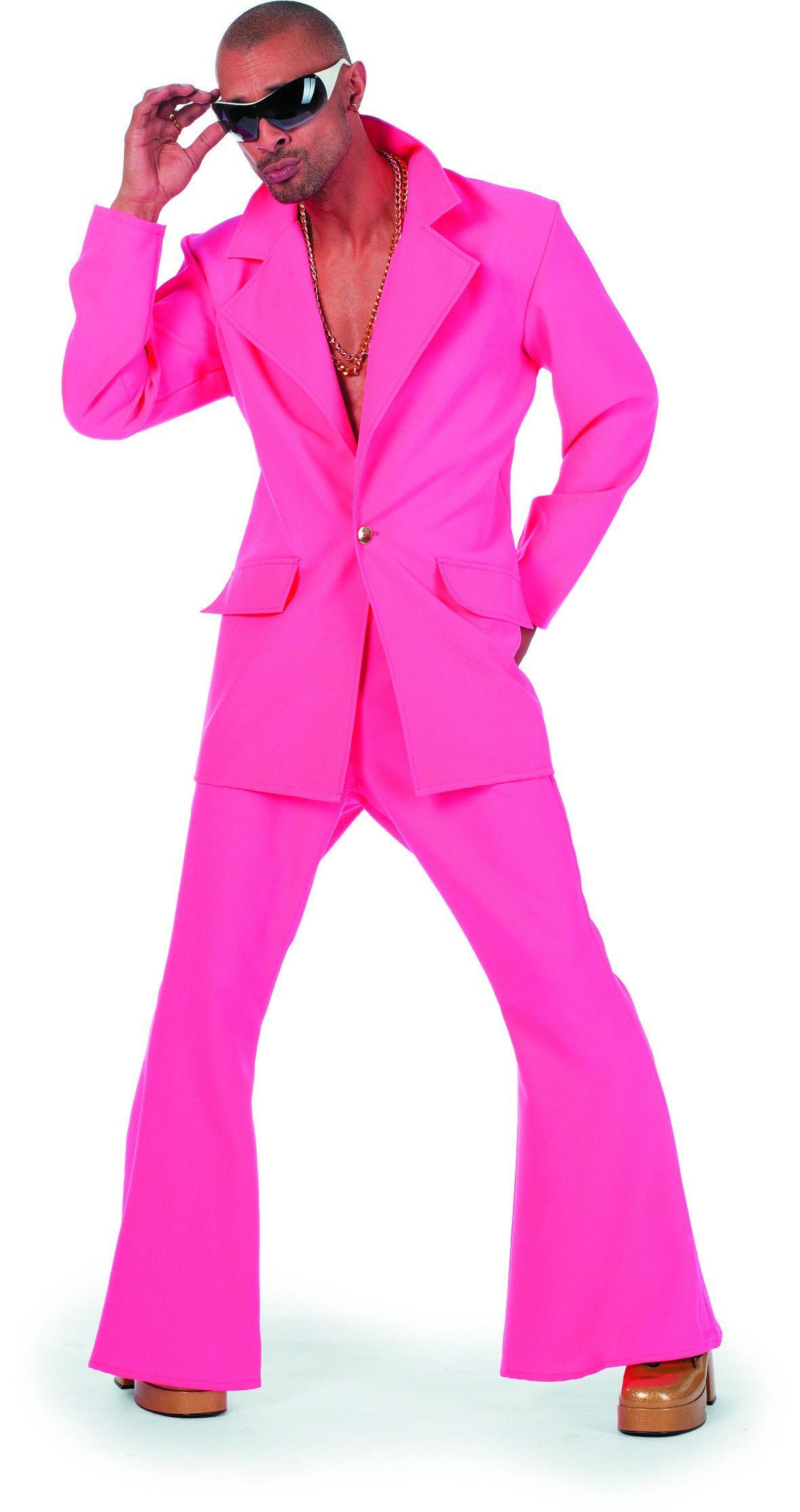 Dancing Pink Disco Fever Man Kostuum