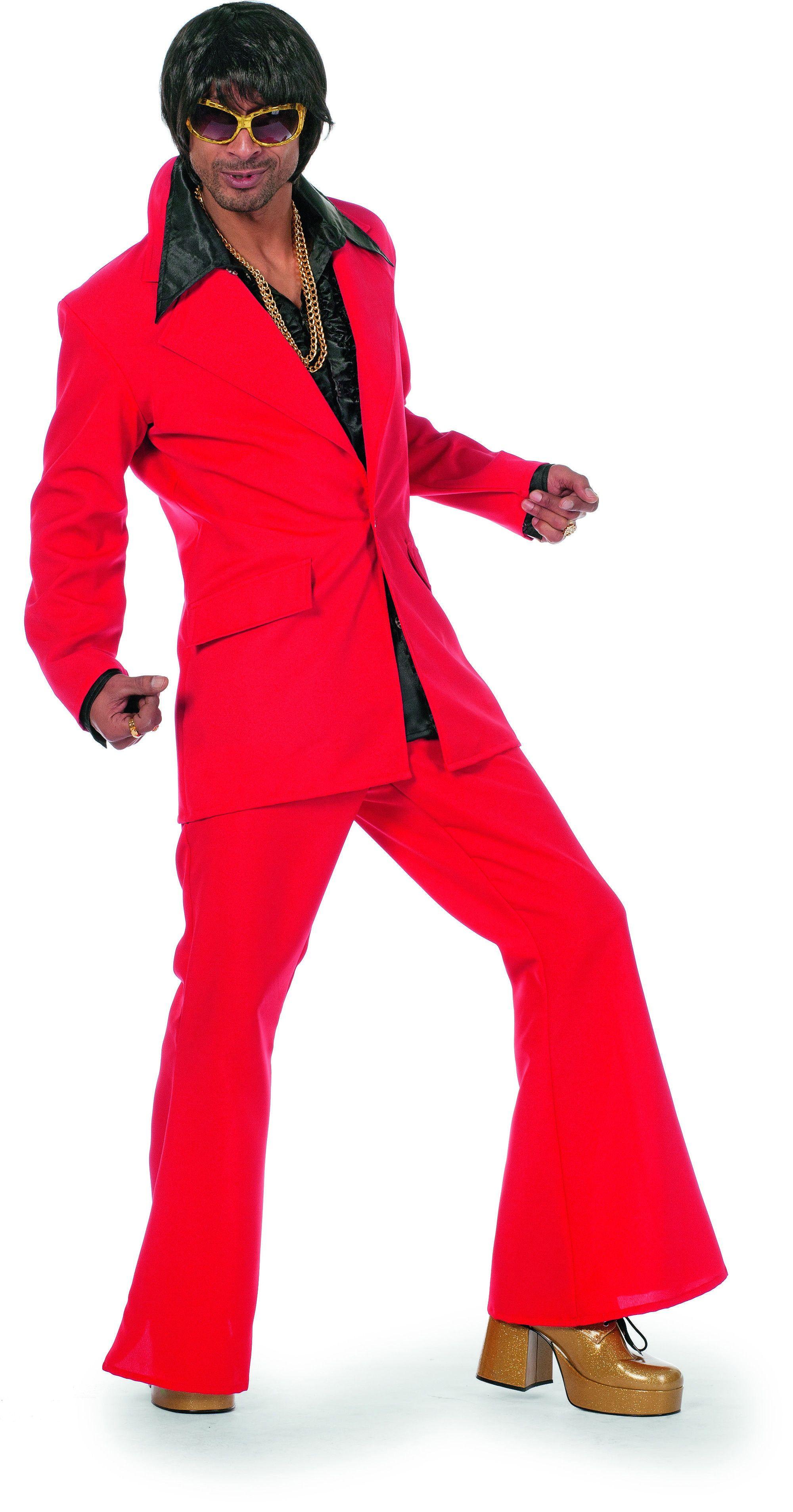 Dancing Rood Disco Fever Man Kostuum