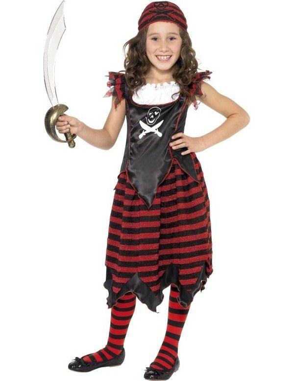 Gothic Piraat Meisje Kostuum