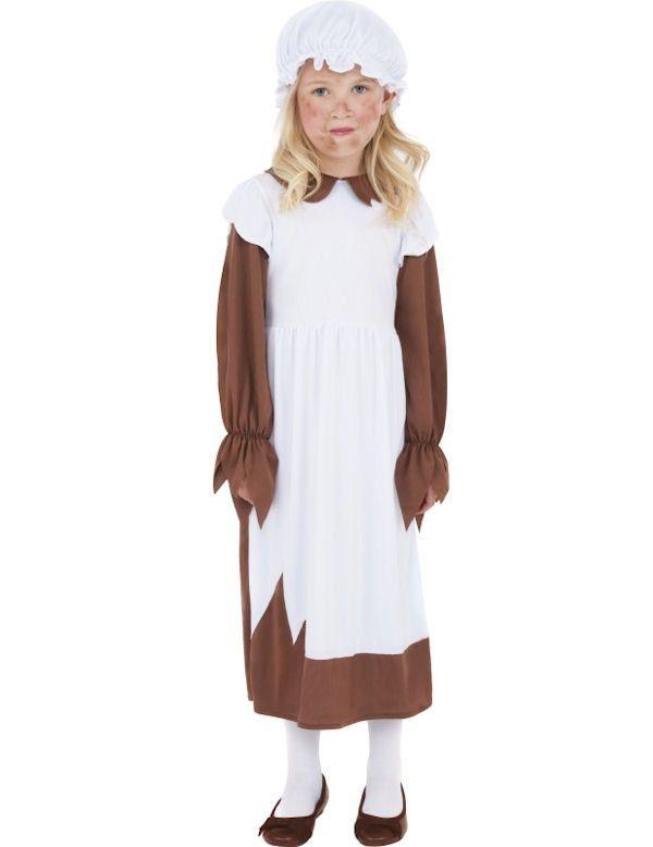 Arme Victoriaan Meisje Kostuum