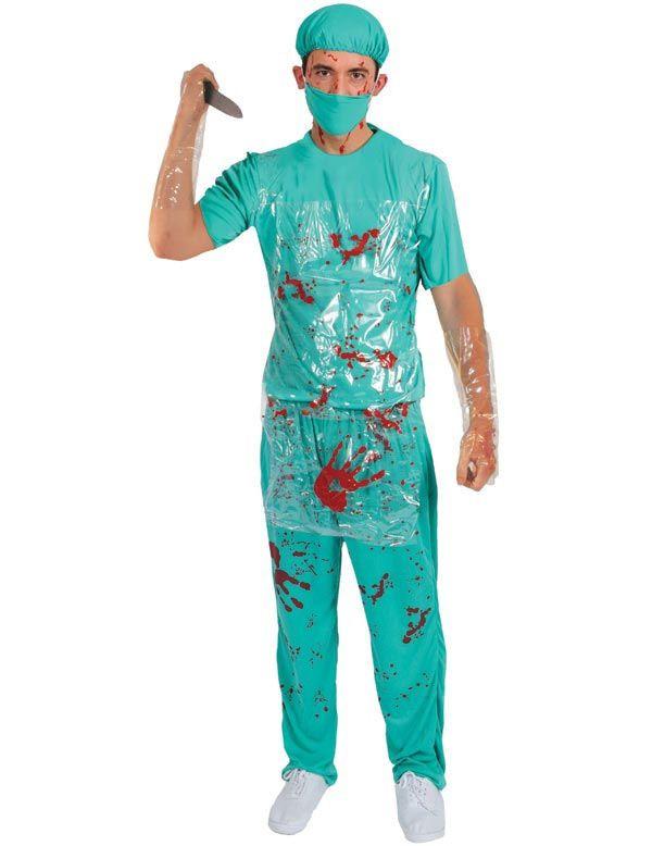 Mannen Halloween Bloederige Chirurg Man Kostuum