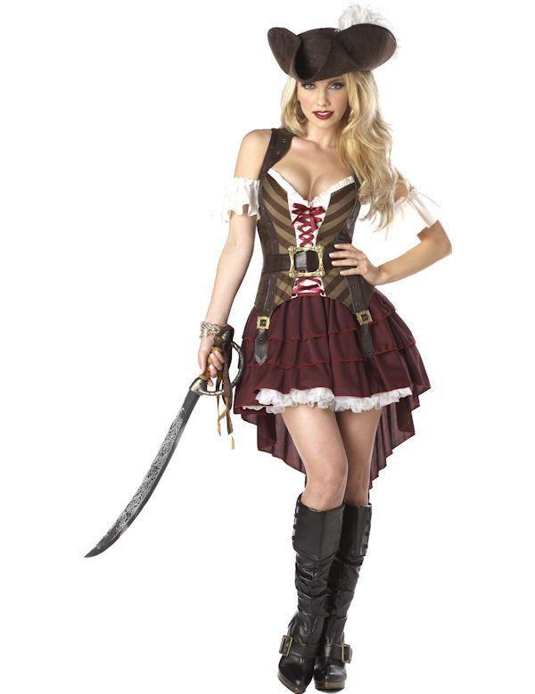 Sexy Swashbuckler Vrouw Kostuum