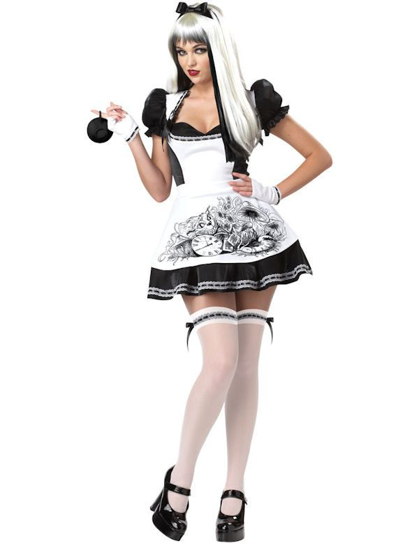 Duistere Alice Halloween Vrouw Kostuum