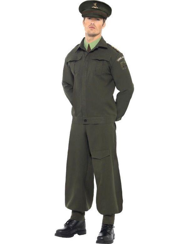 2e Wereldoorlog Soldaat Man Kostuum
