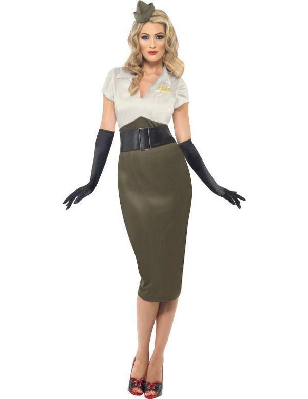 1940 Army Girl Vrouw Kostuum