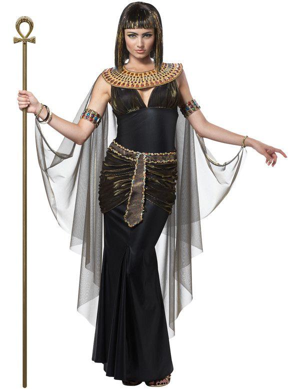 Zwarte Cleopatra Vrouw Kostuum