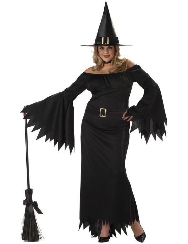 Elegante Heks (Grote Maat) Vrouw Kostuum