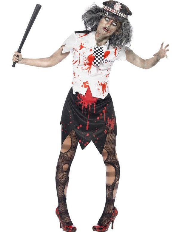 Zombie Politieagente Vrouw Kostuum