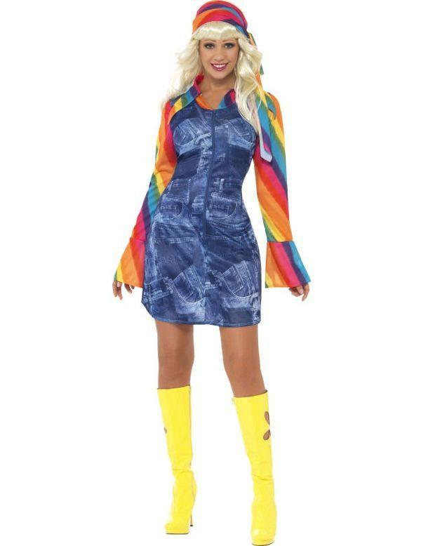 Jaren 70 Dancing Girl Vrouw Kostuum