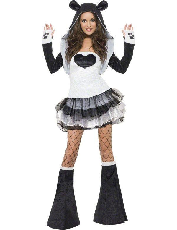 Sexy Panda Vrouw Kostuum