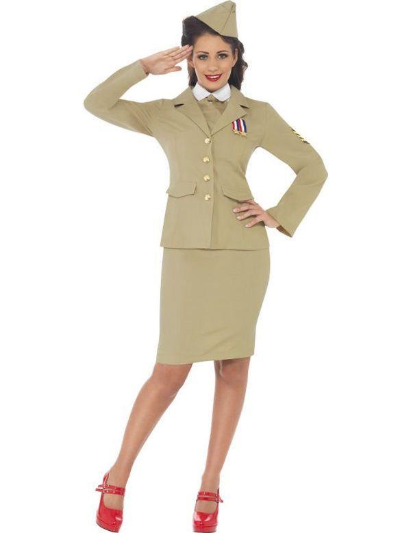 1940 Amerikaanse Leger Dames Vrouw Kostuum