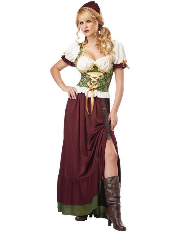 Middeleeuwse Boerin Vrouw Kostuum