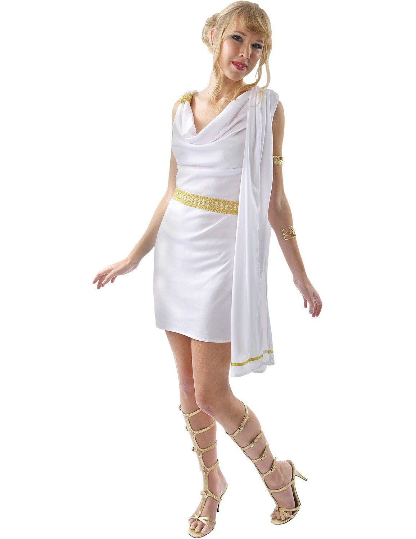 Elegante Romeinse Toga Vrouw Kostuum