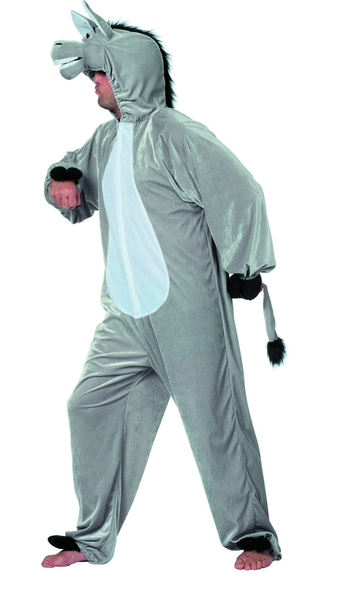 Grappige Pluche Ezel Man Kostuum