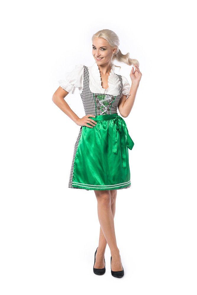 Dirndl Wendy Weissbier Zwart Groen Vrouw Kostuum