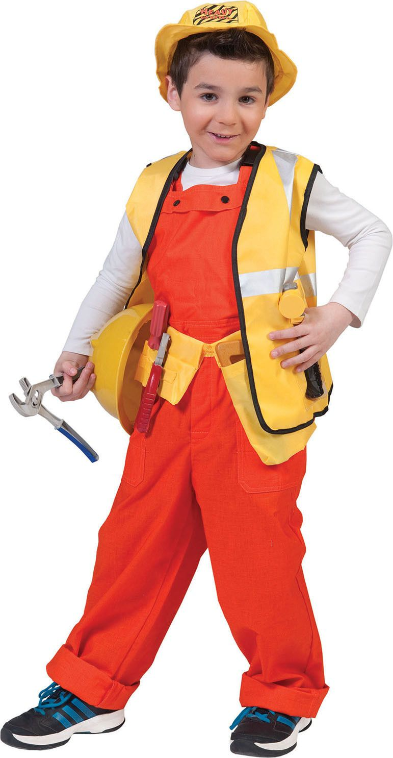 Oranje Kinder Werkmans Overall Jongen Kostuum