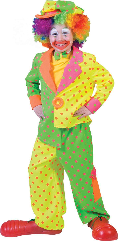 Clown Fluorino Jongen Kostuum