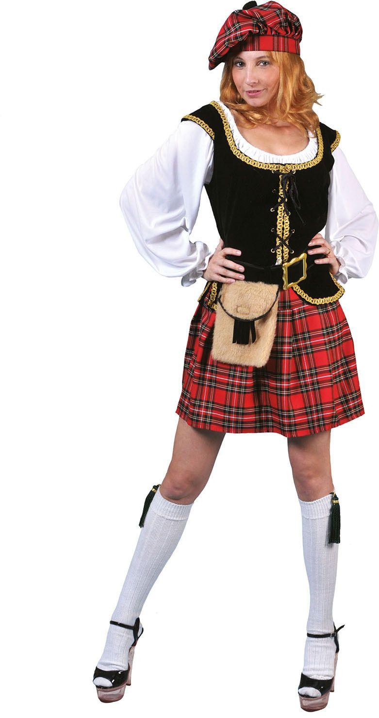 Keurige Schotse Flannagan Vrouw Kostuum