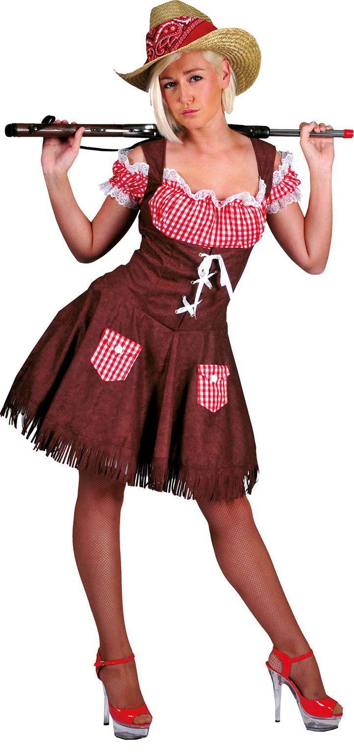 Cowboy Clara Dame Vrouw Kostuum