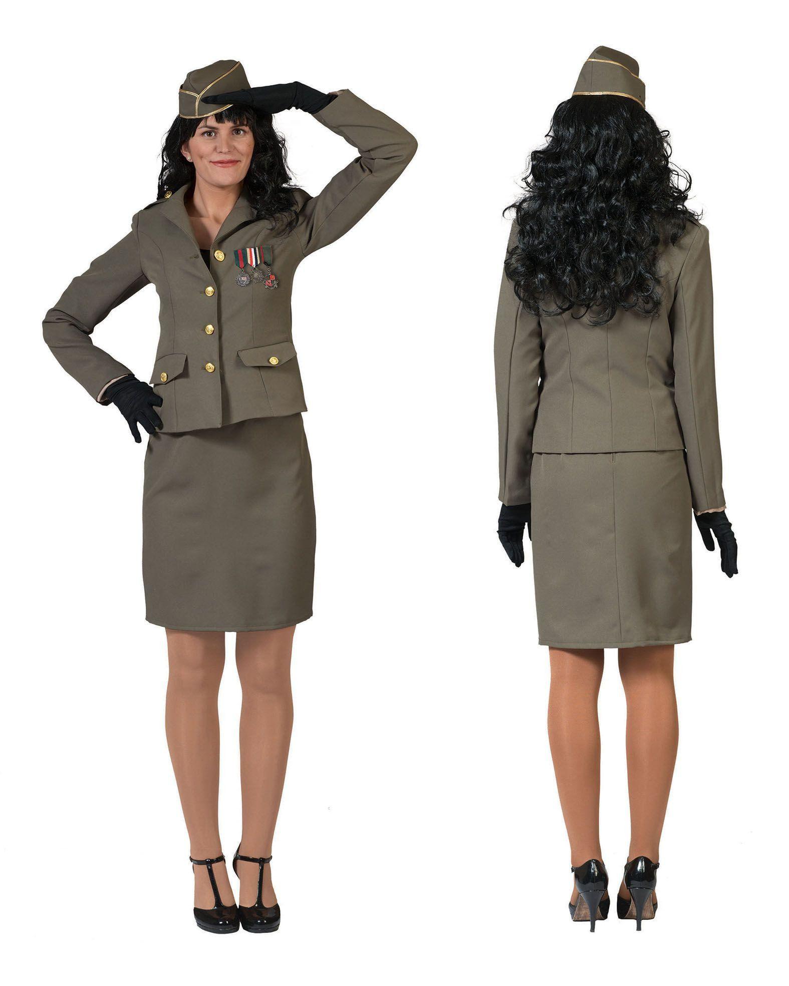 Klassieke Commandant Vrouw Kostuum