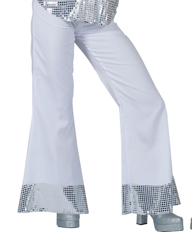 Disco Dancer Broek Wit Vrouw Kostuum