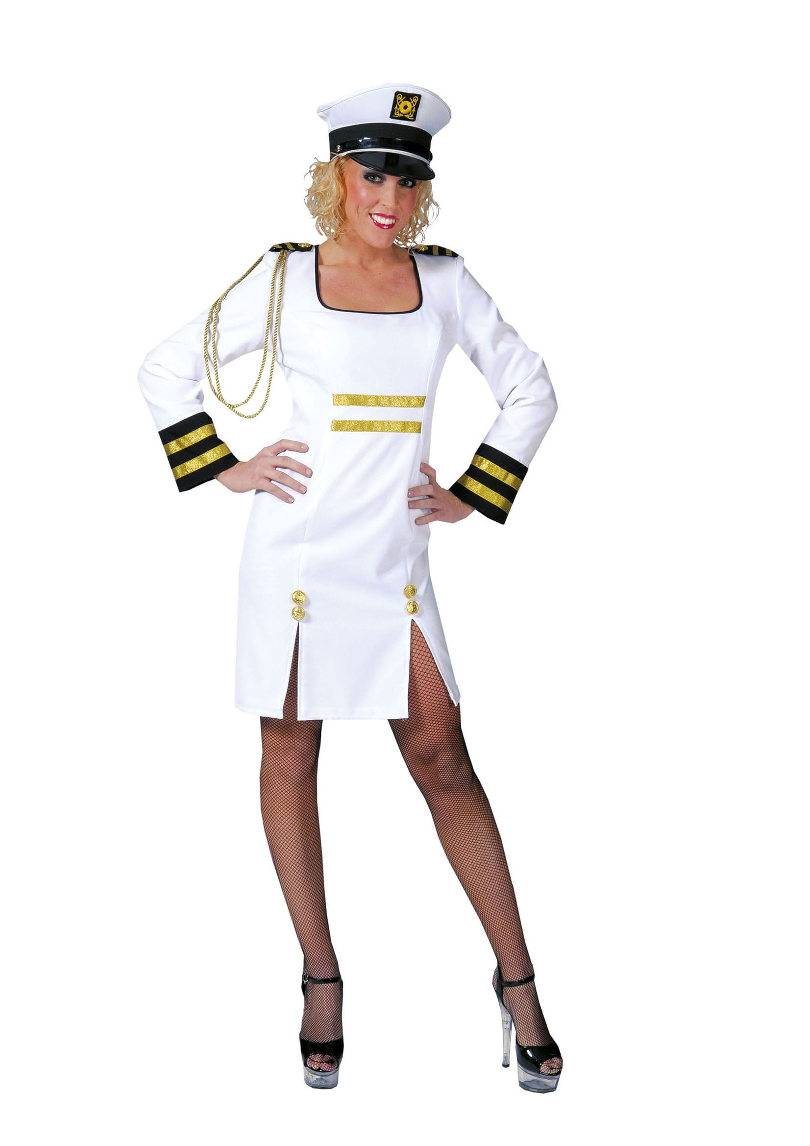 Representatieve Sexy Kapitein Dame Vrouw Kostuum