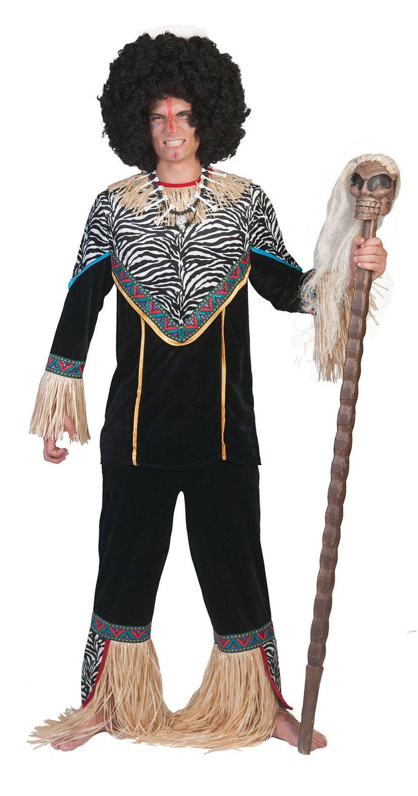 Inboorling Man Smurfafa Kostuum