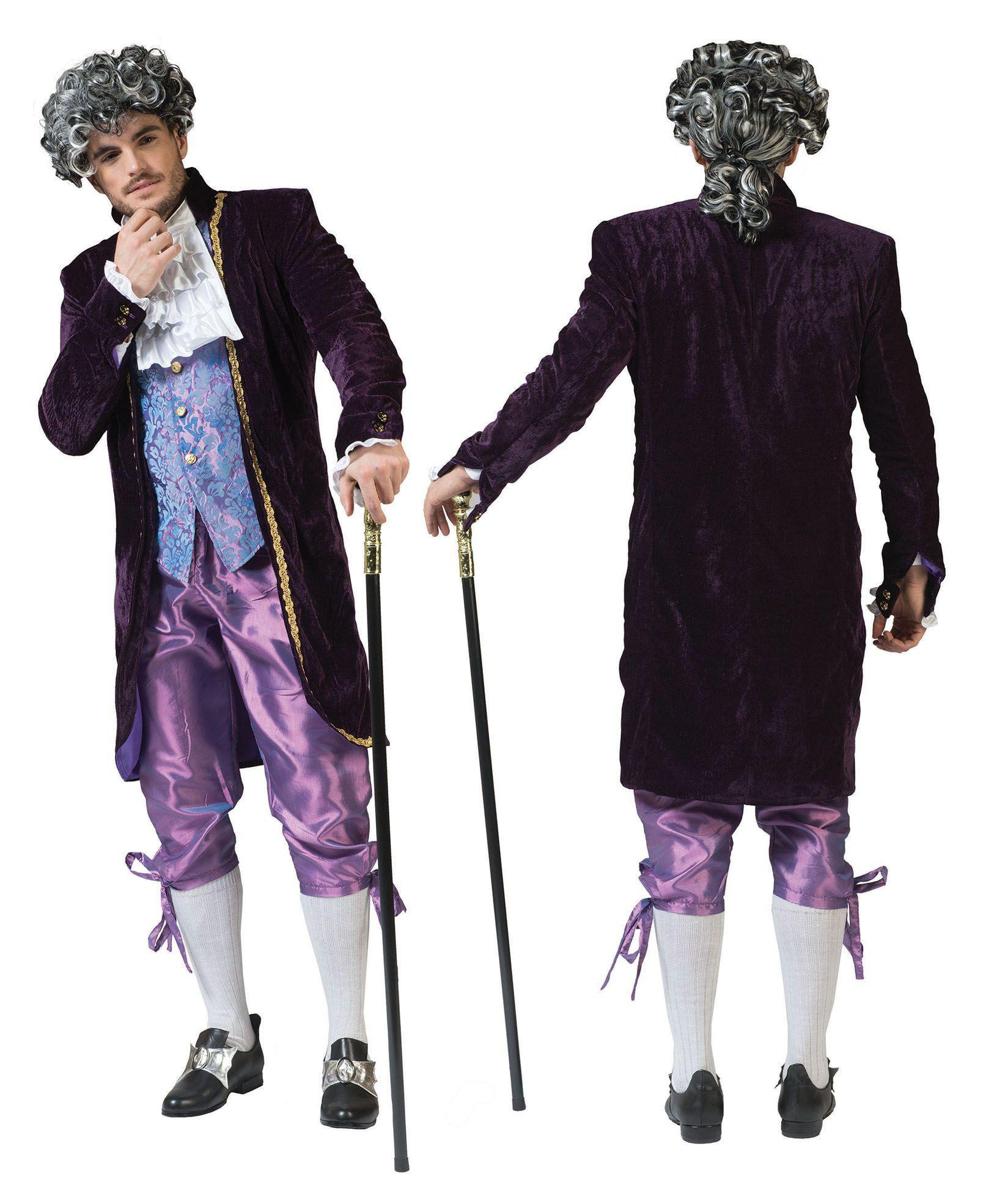 Baroque Lord Blue Man Kostuum