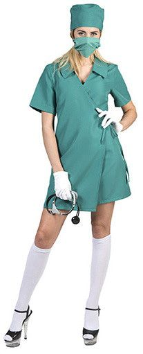 Bedwelmende Operatiekamer Chirurg Vrouw Kostuum