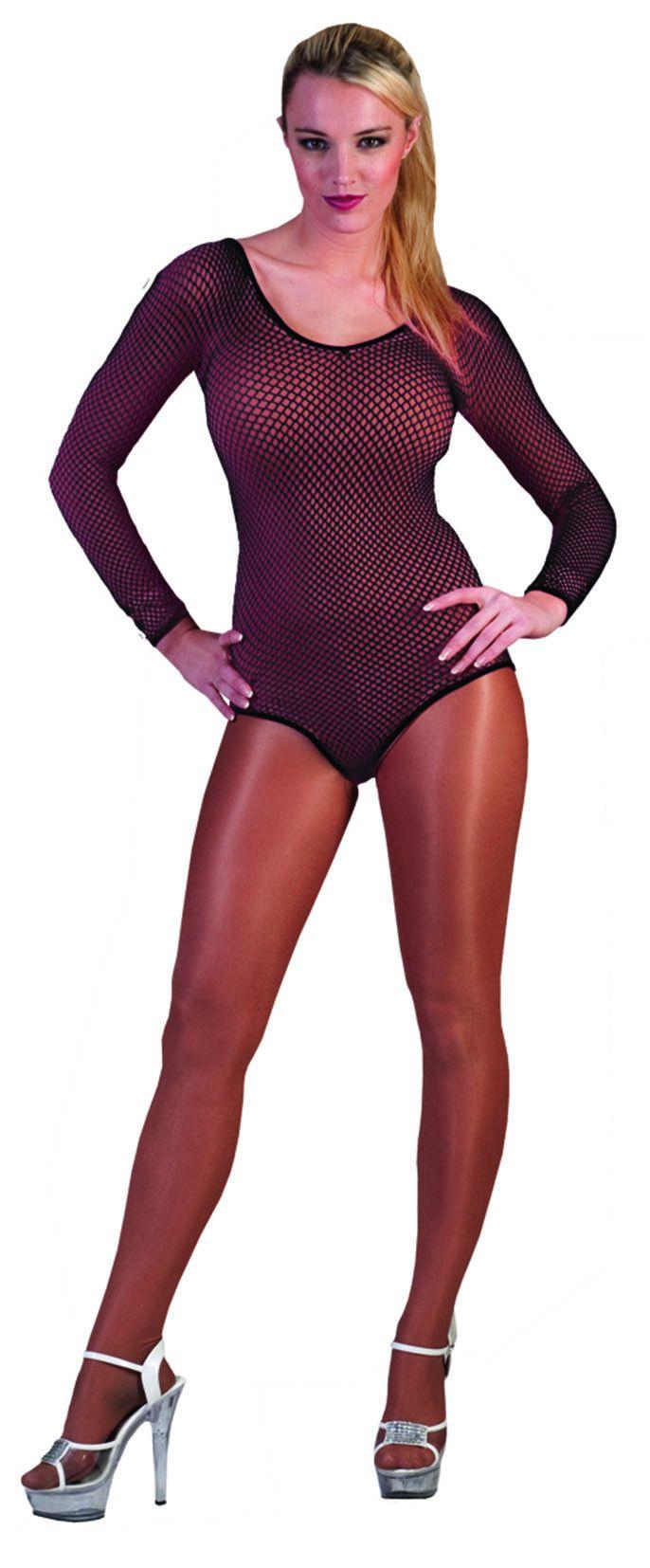 Spannende Visnet Body Zwart Vrouw Kostuum