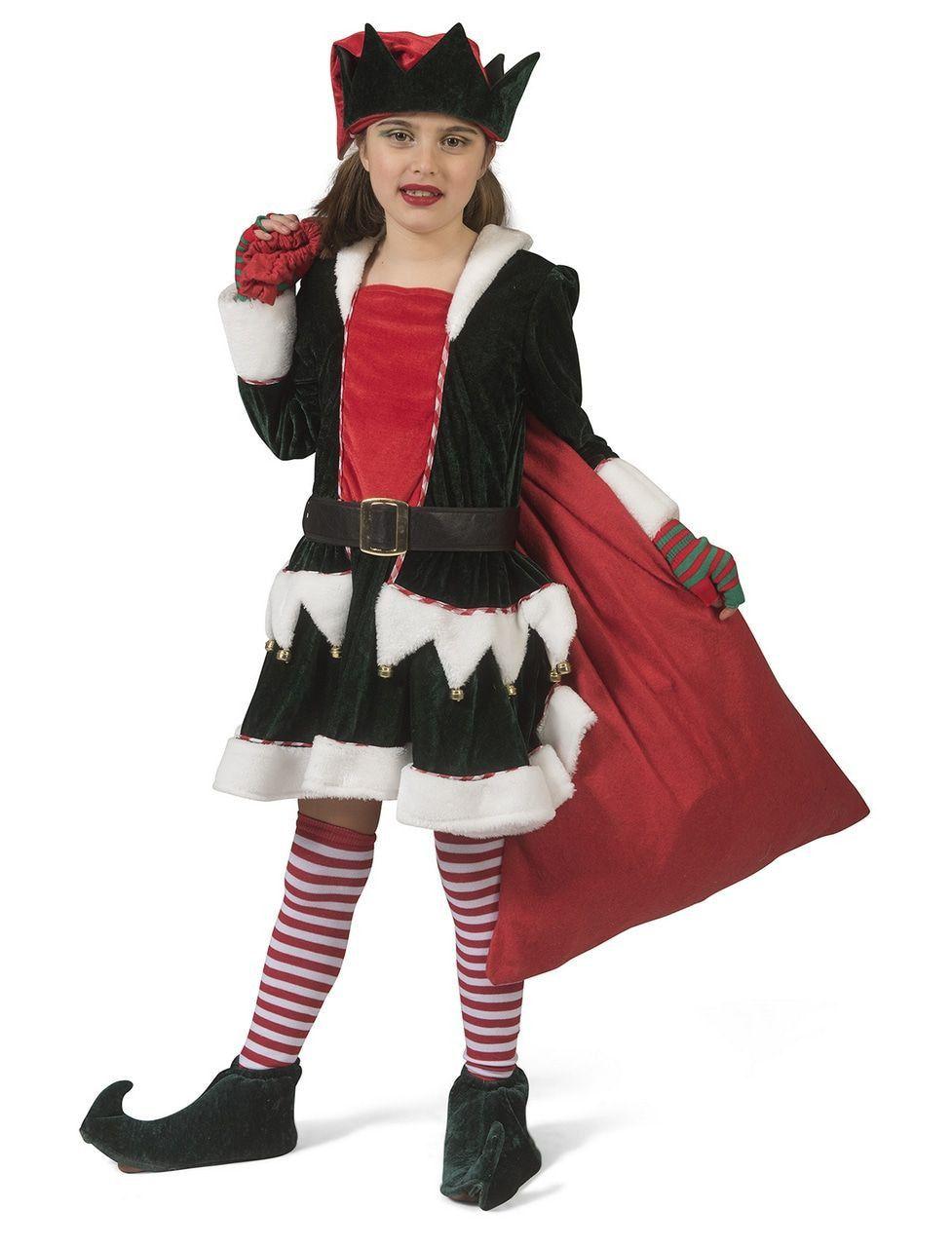 Noordpool Kerstelf Hulpje Van De Kerstman Meisje Kostuum