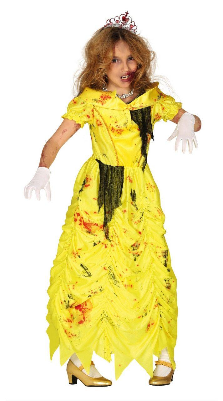 Gele Zombie Prinses Meisje Kostuum