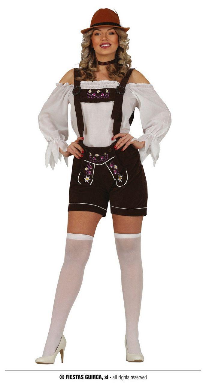 Korte Sexy Lederhosen Brenda Vrouw