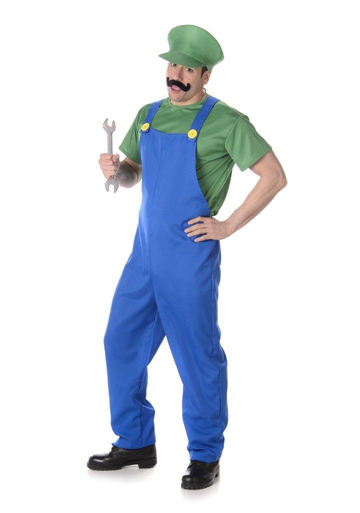 Luigi Computerspel Broer Van Mario Man Kostuum